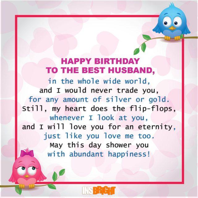 cute birthday poem for husband
