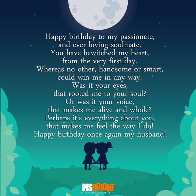 happy birthday poem for husband