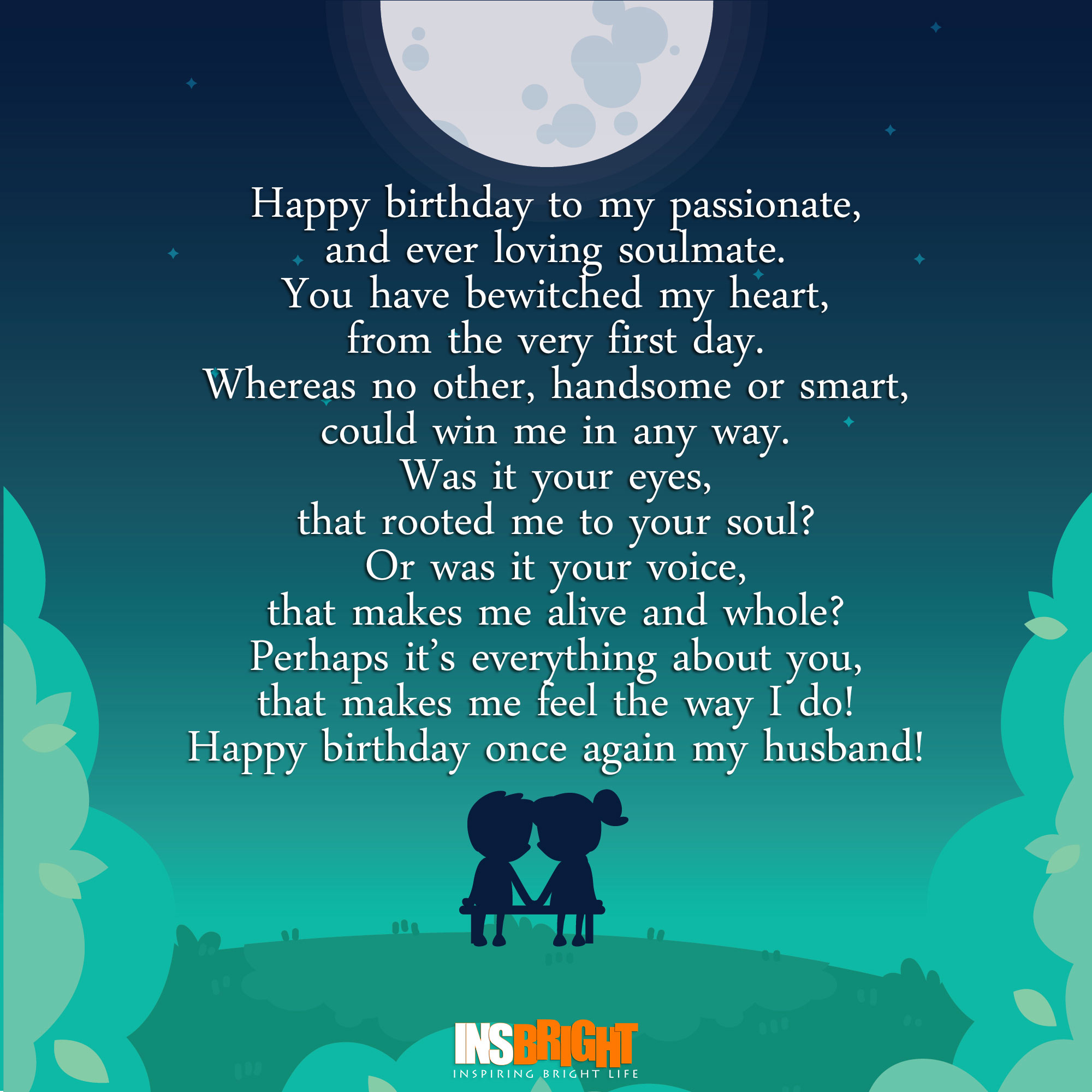 Romantic Happy Birthday Poems For Husband From Wife Insbright