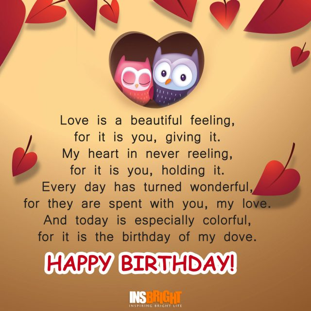romantic birthday poem for husband