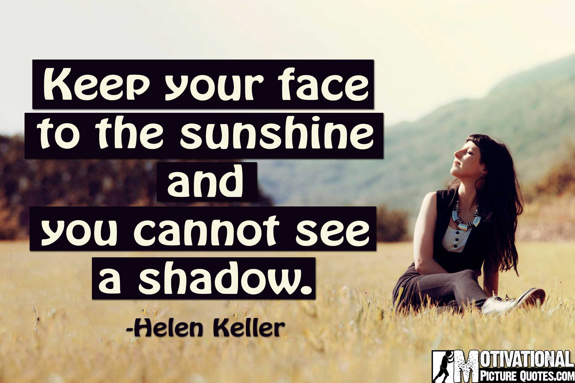 helen keller quotes about positive thinking