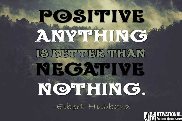 Elbert Hubbard quote - power of positive thinking