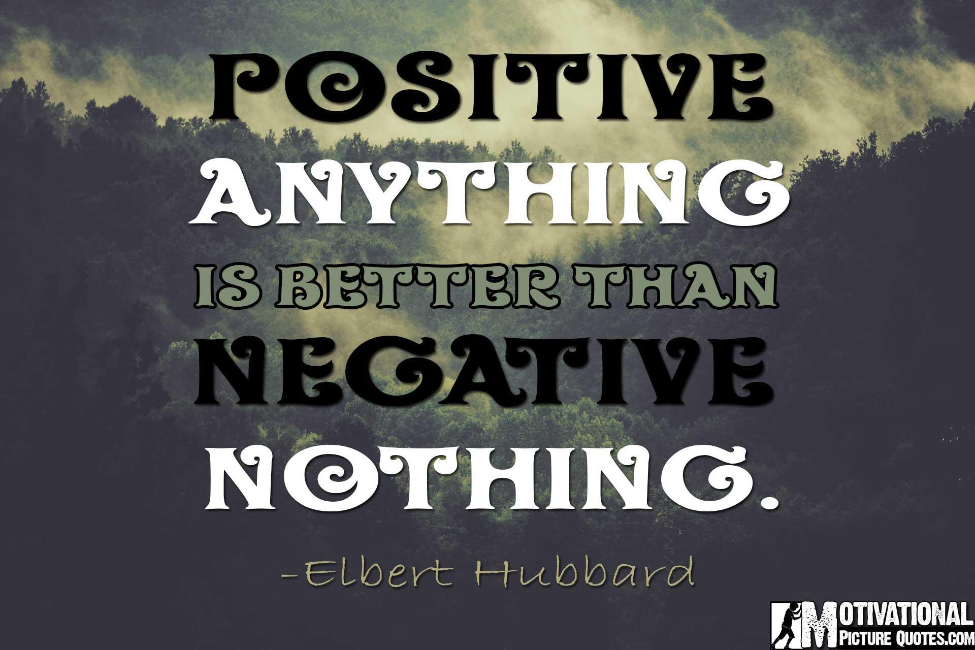 elbert hubbard quote power of positive thinking