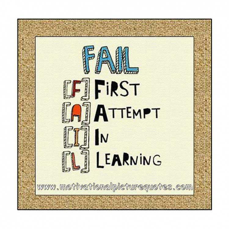 Inspirational images about failure
