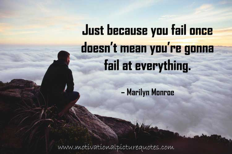 Marilyn Monroe Quotes about Failure