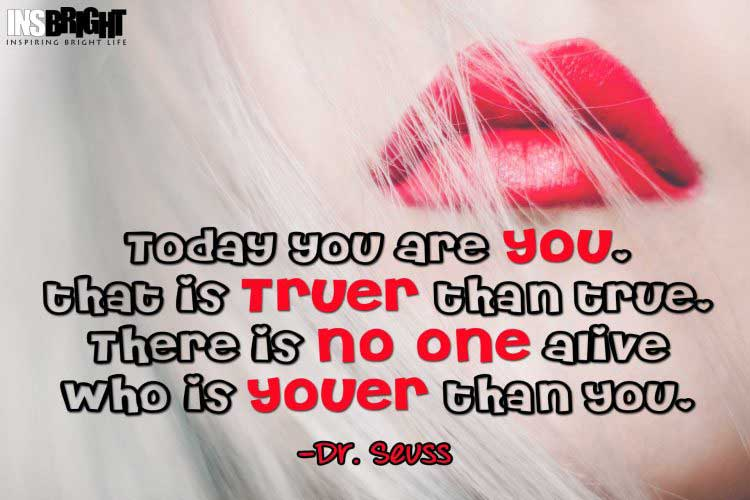 Dr. Seuss Be Yourself Quotes