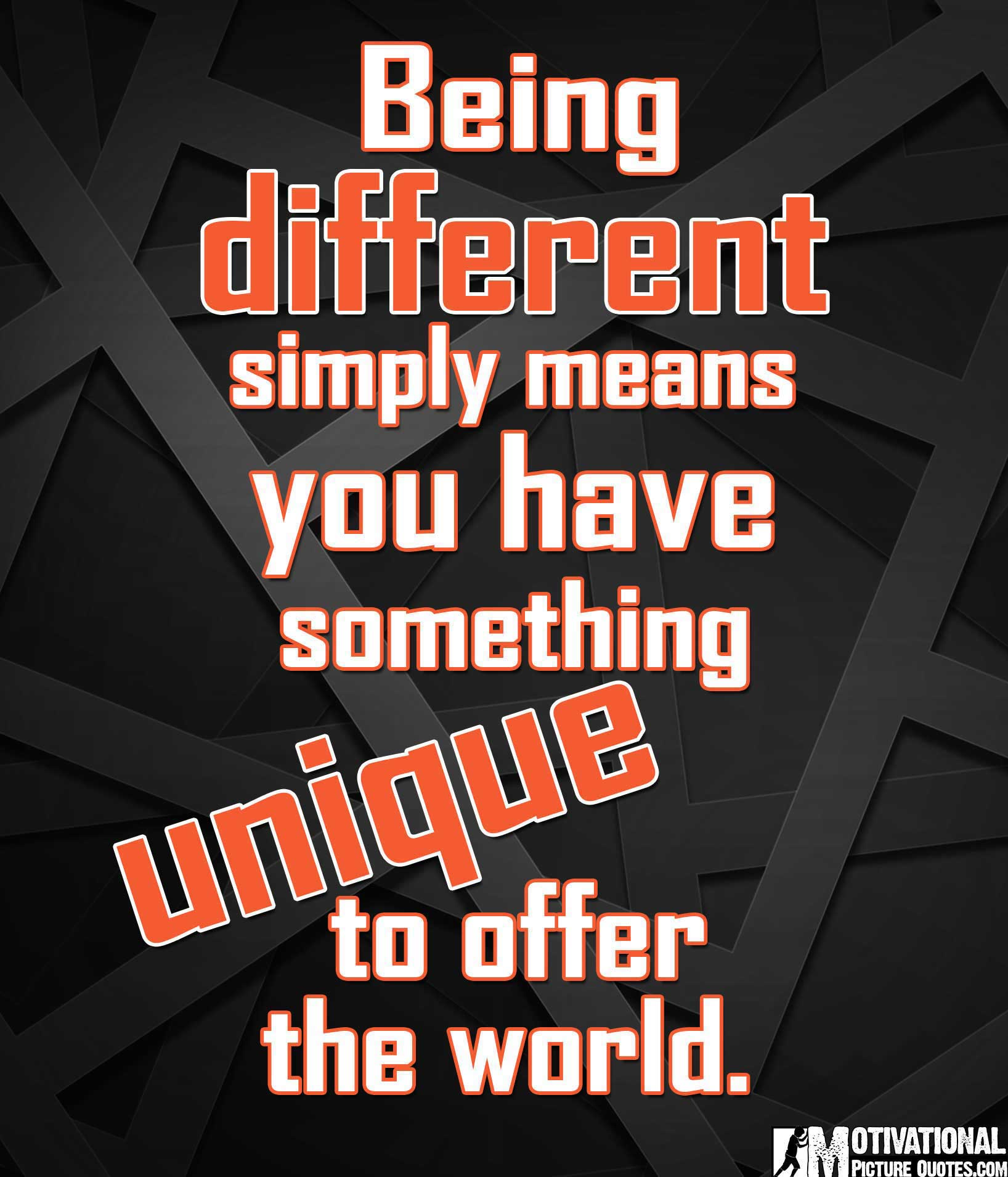 30+ Being Different Quotes with Images | Famous Be Unique ...