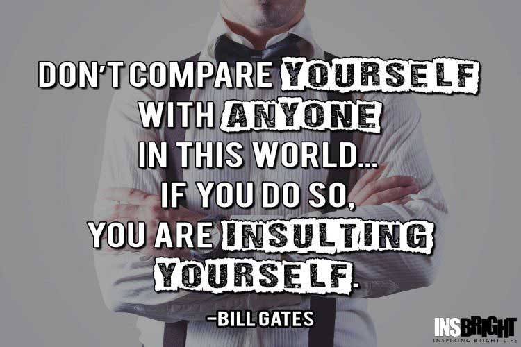famous quotes about being different by Bill Gates