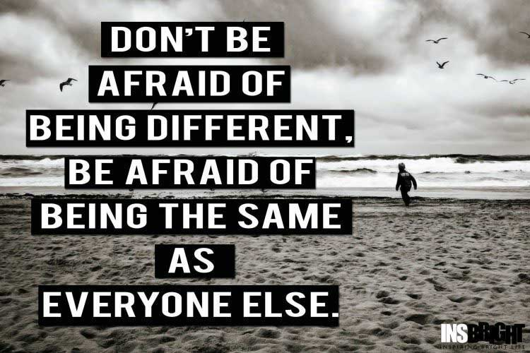 quotes about being different from everyone else