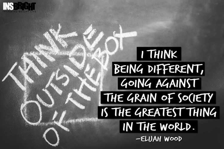 Elijah Wood quotes about being different from society