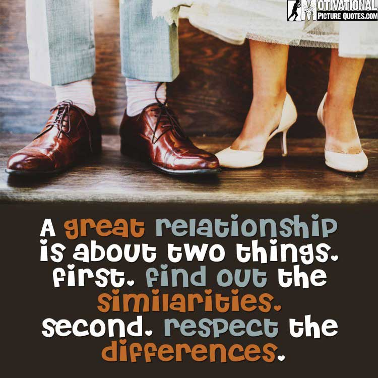 quotes about being different in a relationship