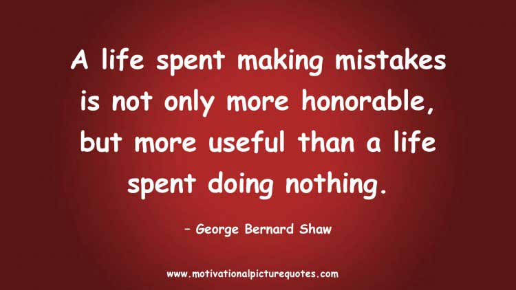 Inspirational quotes about making mistakes