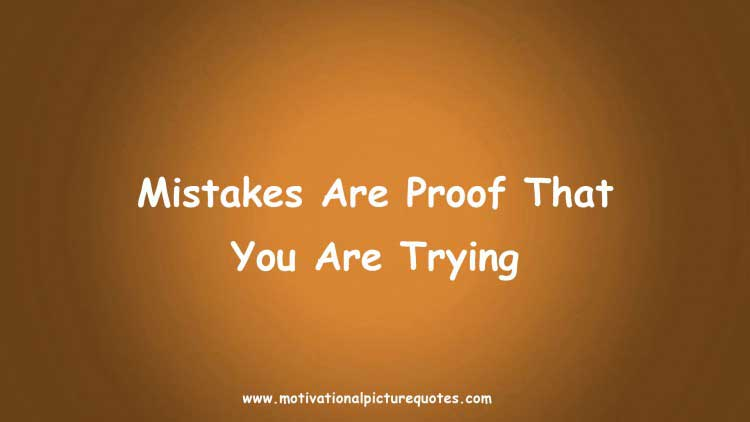 inspiring quotes on making mistake with image