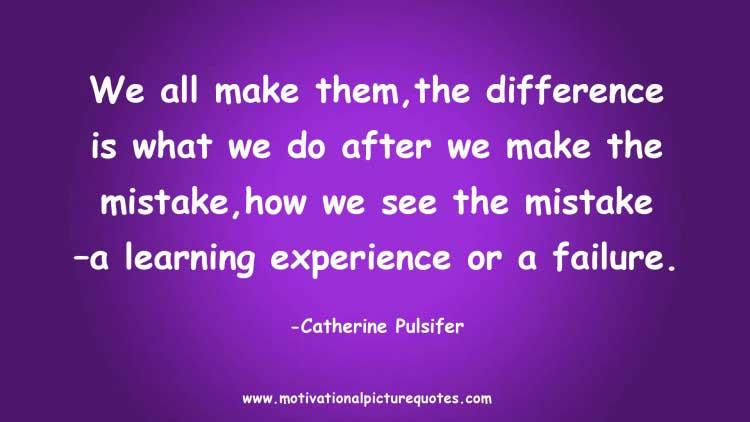 motivational saying on making mistake