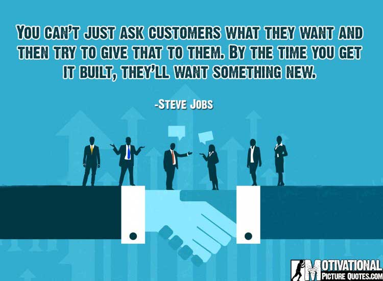 motivational business quote by Steve Jobs