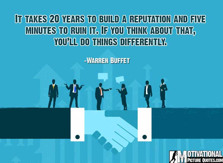 Warren Buffet motivational business quotes with image