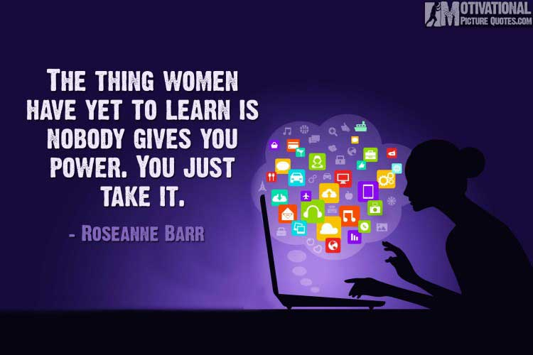 Inspirational Entrepreneurship Quotes For Successful Female by Roseanne Barr