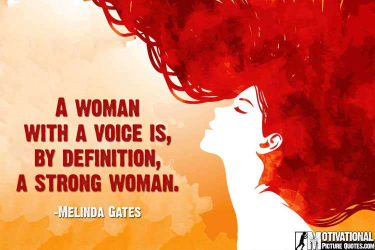 quotations on women empowerment by Melinda Gates