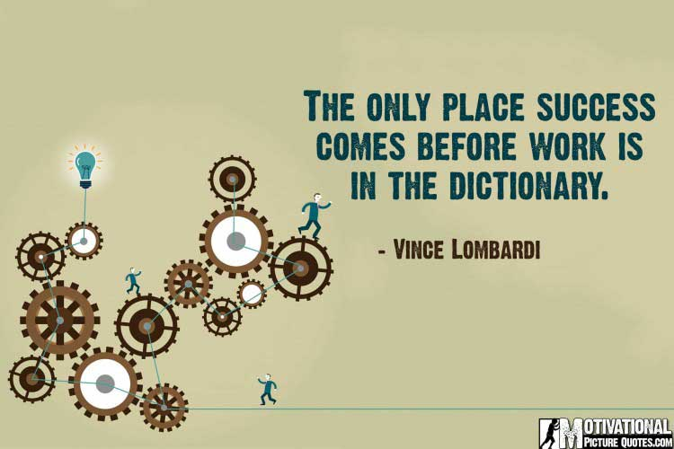 best inspirational quotes for work Vince Lombardi