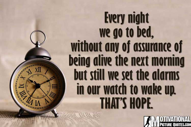Inspirational and motivational quotes about Hope