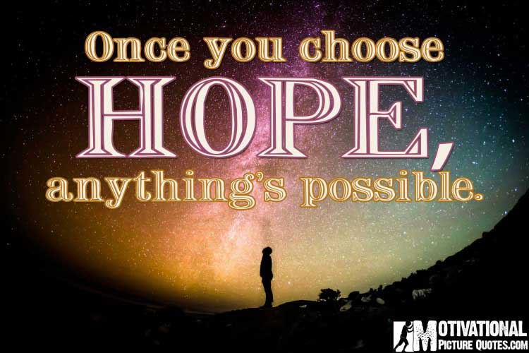 Inspirational quote about Hope