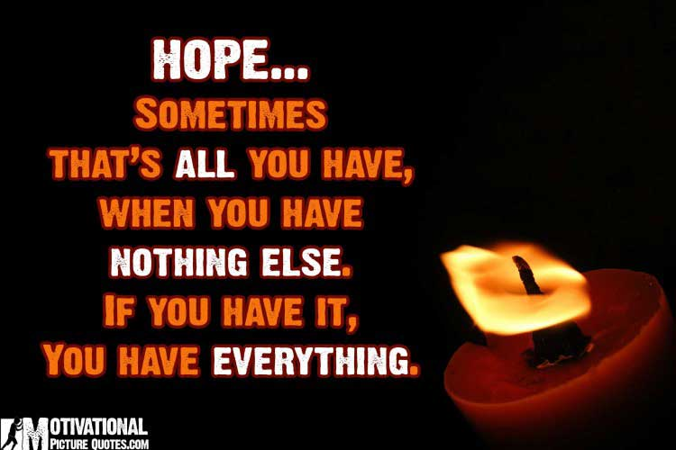 best Inspiring quote on hope with image