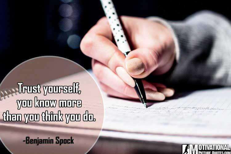 best exam quote by Benjamin Spock