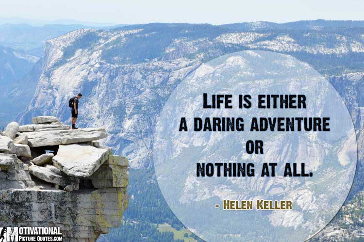 motivational risk taking quotes by Helen Keller