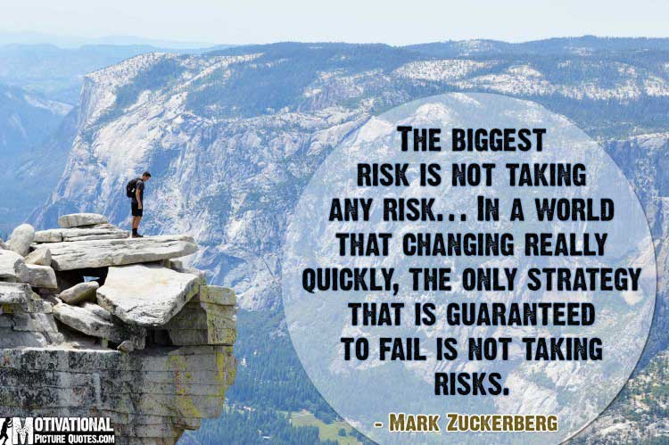 risk taking quotes by Mark Zuckerberg