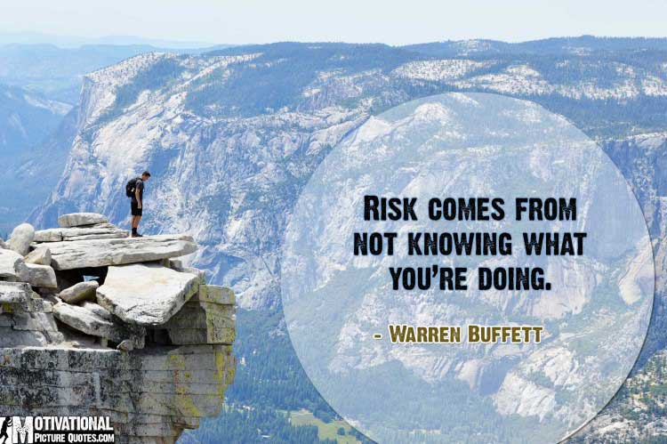 take risks quotes by Warren Buffett