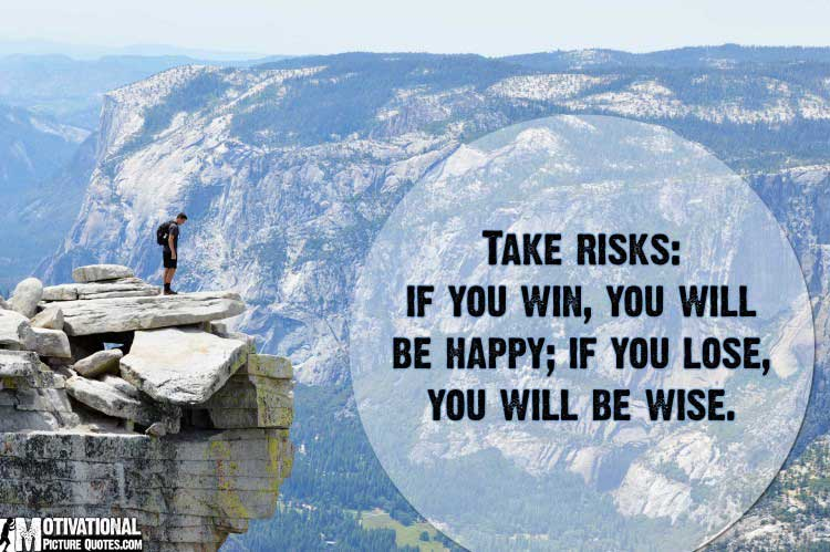 taking risk quotes