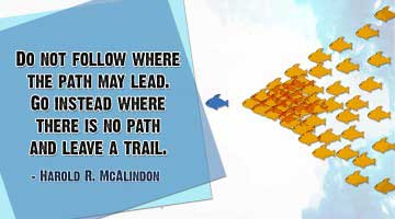 famous quotes on leadership by Harold R. McAlindon