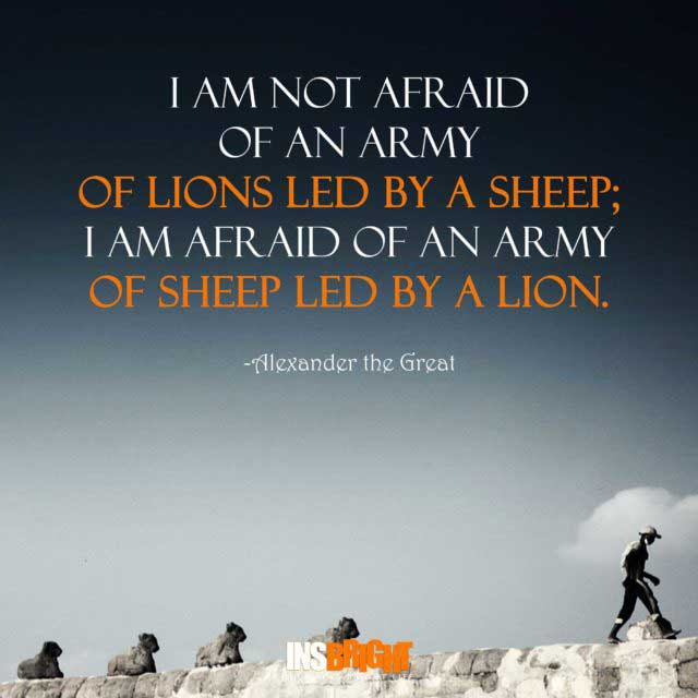 great leadership quotes by Alexander the Great
