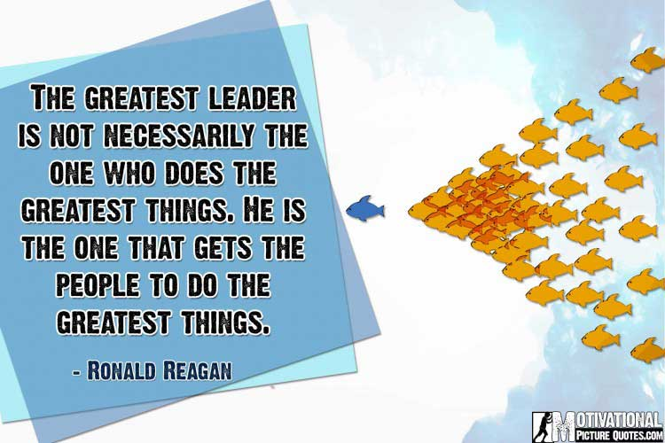 leadership quote by Ronald Reagan