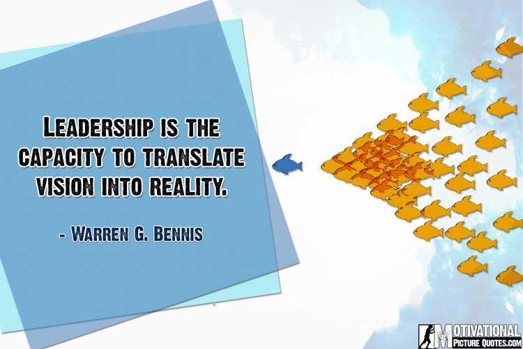leadership speeches by Warren G. Bennis
