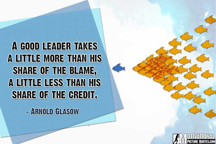 motivational leadership quotes by Arnold Glasow