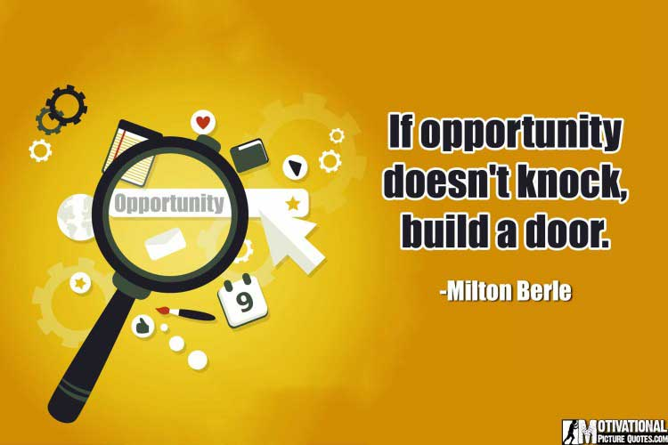 Opportunity Quotes by Milton Berle