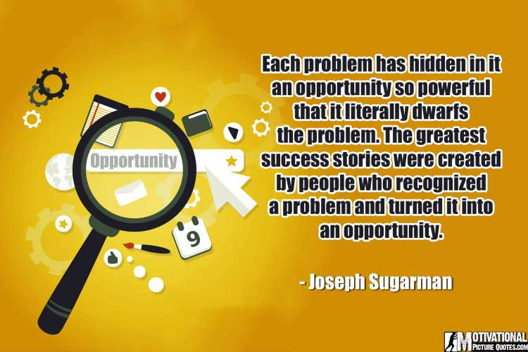 inspirational Quotes About Opportunity by Joseph Sugarman