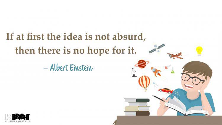 get your own ideas quotes by Albert Einstein