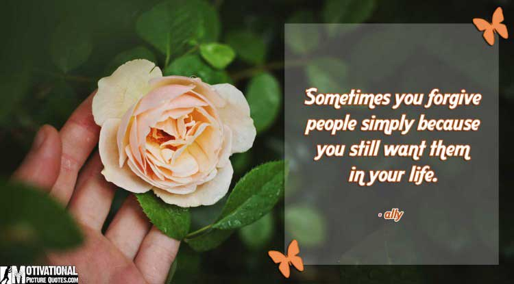 quote of forgiveness by ally