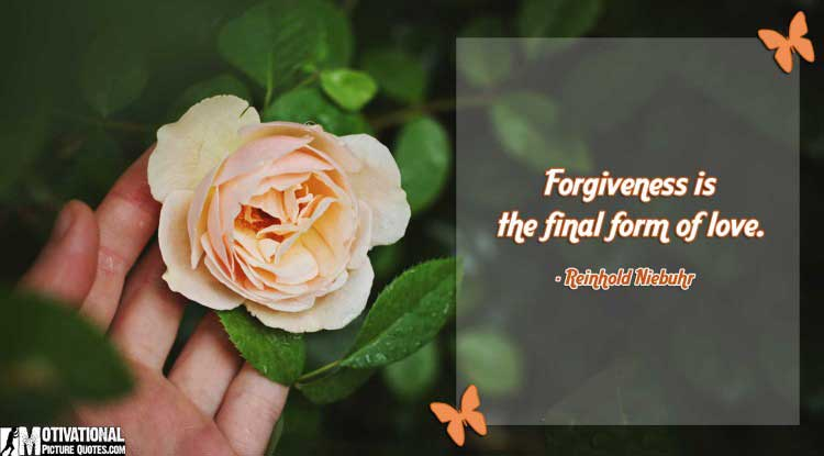 quote on forgiveness by Reinhold Niebuhr