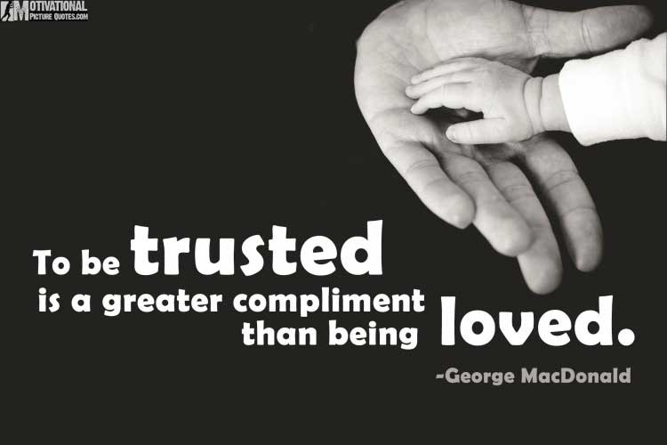 quotation on trust by George MacDonald