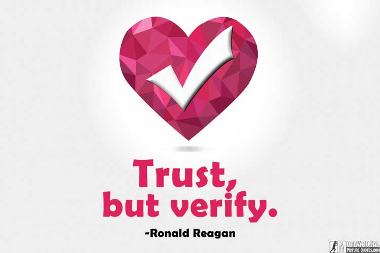 Ronald Reagan quote for trust