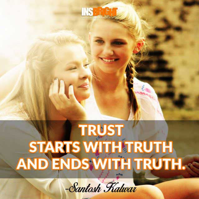 Santosh Kalwar trust quote