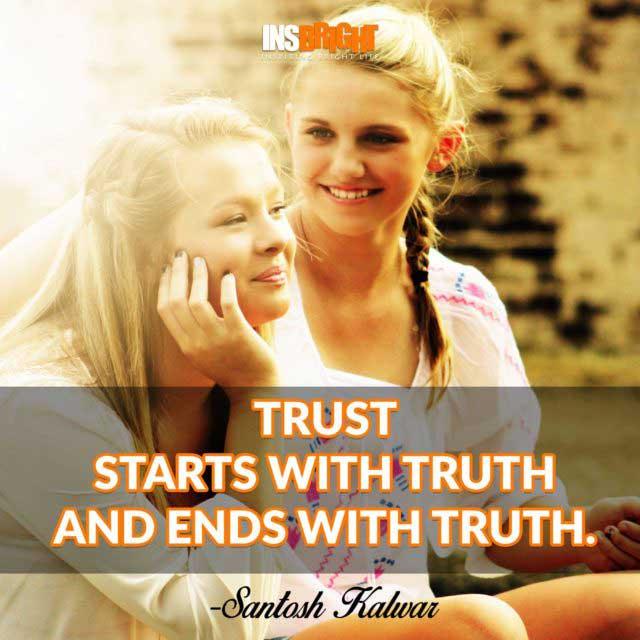 Santosh Kalwar trust quote