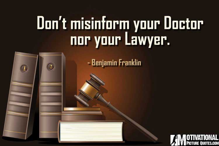 inspirational lawyer quotes by Benjamin Franklin