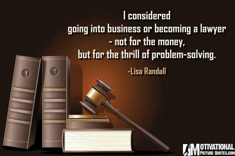 Lisa Randall lawyers quotes
