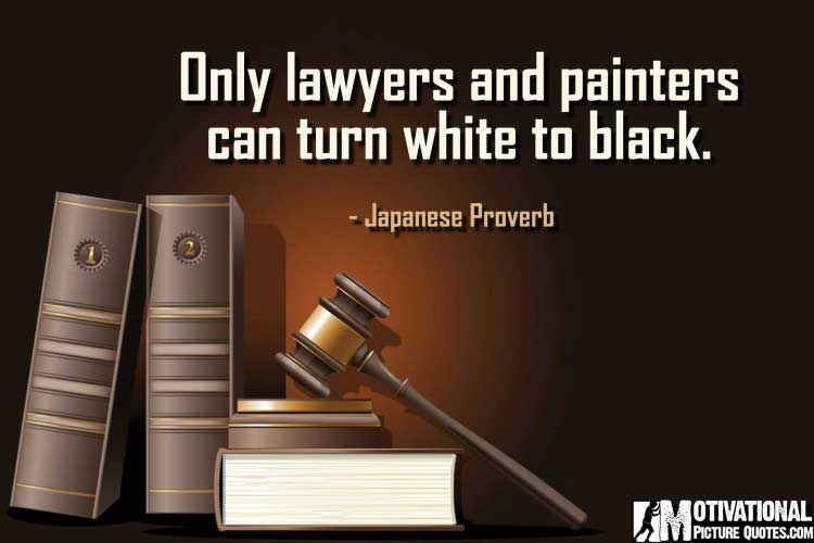 Japanese Proverb on lawyer