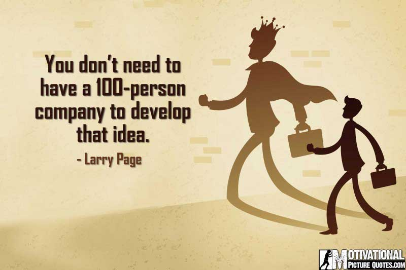 Entrepreneurship Quote by Larry Page