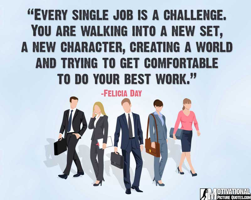 Felicia Day quote for job